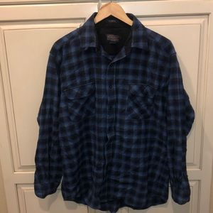 Pendleton wool button down flannel shirt